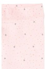 Jersey leggings - Light pink/Hearts -  | H&M CN 3